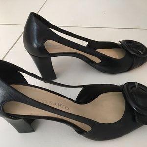"""Franco Sarto Tiara Black 3"""" Heels"""
